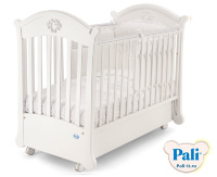 Кроватка Pali Angelica (Ангелика) белый (white)  с матрасом Pali Evolution кокос
