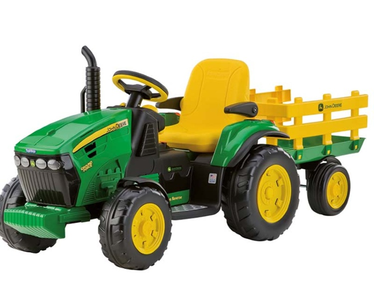 Электромобиль трактор Peg Perego John Deere Ground Force + Trailer